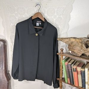 Vintage black blouse, deadstock